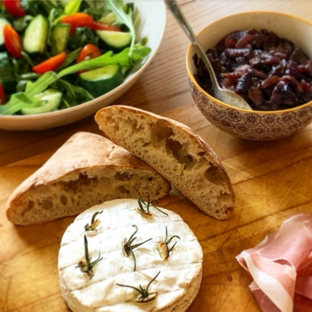 Day 9: Baked Camembert with Red Onion Chutney