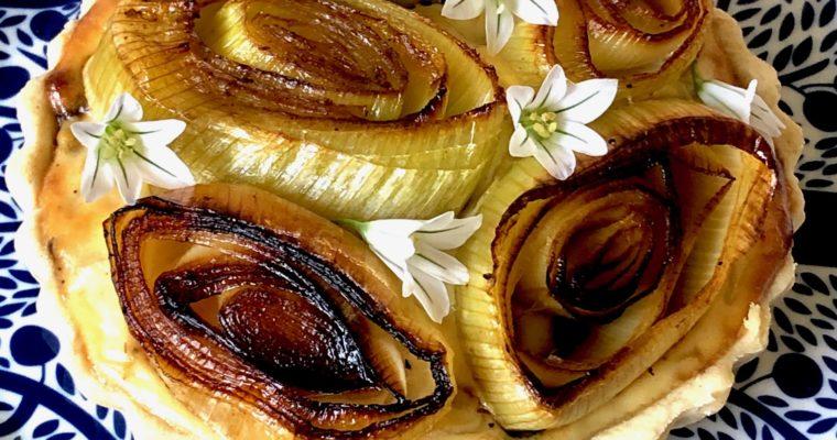 three onion tart