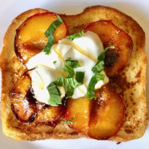 French toast with plums
