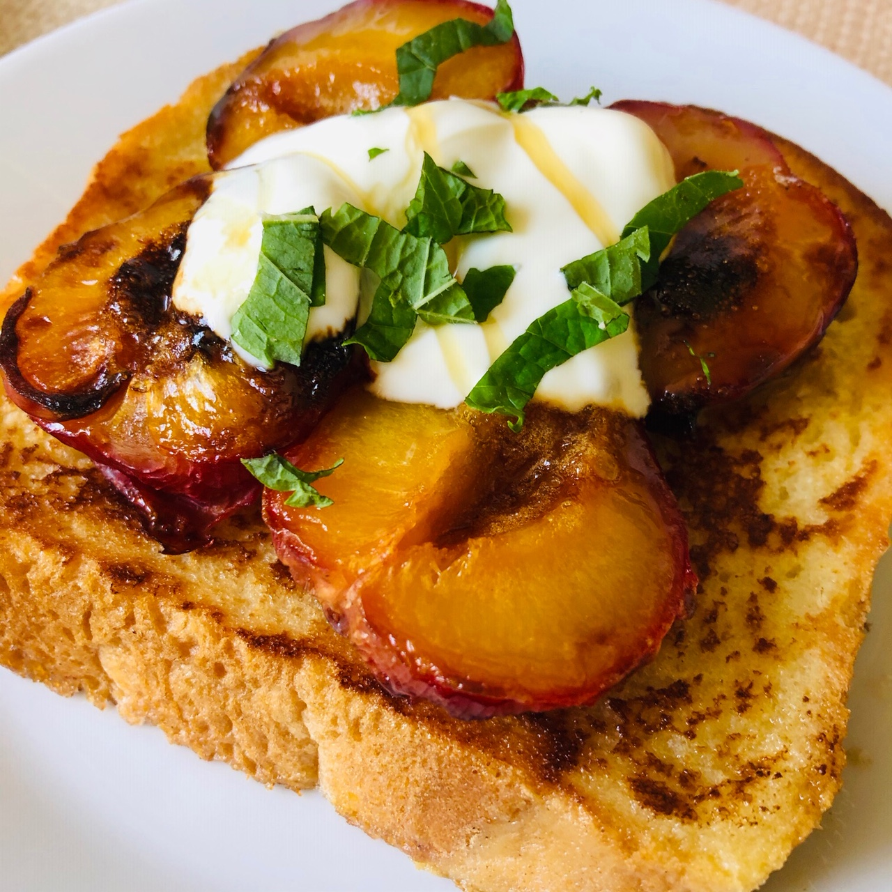 Day 32: French Toast with Plums