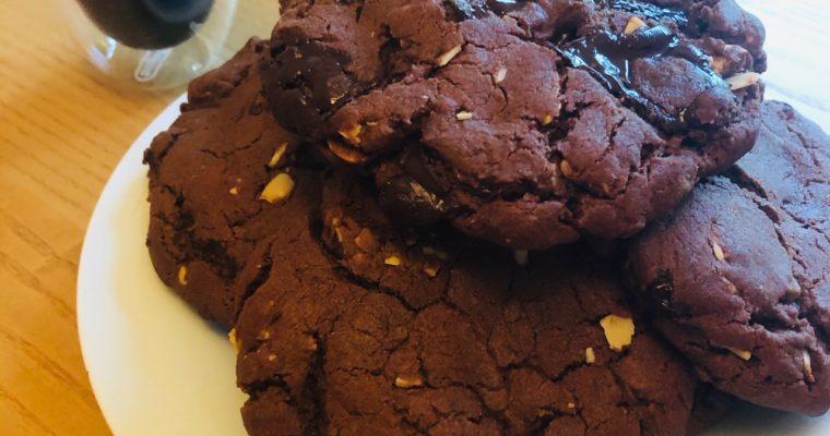 Day 30: Dark Chocolate & Almond Butter Cookies