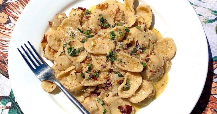 Day 66: Orecchiette, Radicchio Pesto & Walnuts