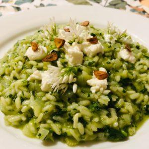 wild garlic risotto