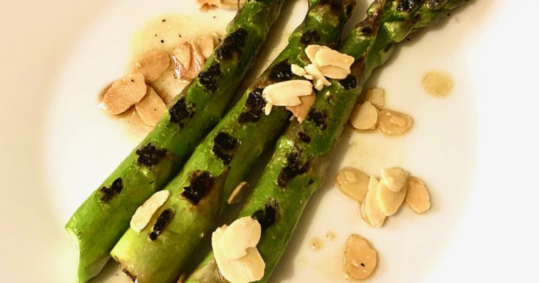 Day 48: Grilled Asparagus & Buttered Almonds