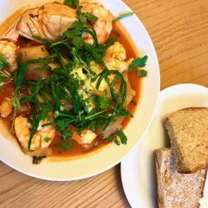 fish stew with saffron aioli