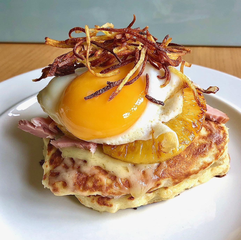 Day 88: Ham, Egg & Chips Stack